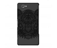 Чехол Art Case и защитная пленка для Sony Xperia Z3+, Черный Тигр