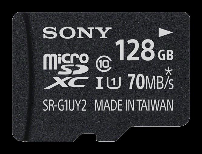 Карта памяти Sony MicroSD SRG1UYAT 128 ГБ Черный со скидкой