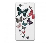 Чехол Art Case и защитная пленка для Sony Xperia Z3+, Military Бабочки 2