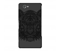 Чехол Art Case и защитная пленка для Sony Xperia Z3 Compact, Черный Тигр