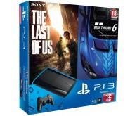 Игровая приставка PS3 Slim 12 ГБ + Одни из нас + Gran Turismo 6 Anniversary Edition