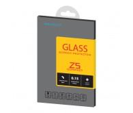 Защитное стекло BROSCO для Xperia Z5 Compact(0.15 mm) + задняя матовая пленка