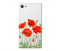 Чехол Deppa Art Case и защитная пленка для Sony Xperia Z5 Compact, Flowers Мак