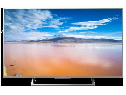 "Телевизор Sony 43"" KD-43XE8077 4K HDR, 4K X-Reality PRO, TRILUMINOS Display Серебристый со скидкой"