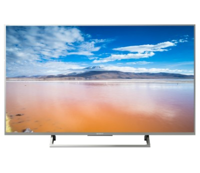 "Телевизор Sony 43"" KD-43XE8077 4K HDR, 4K X-Reality PRO, TRILUMINOS Display серебристый – цена и описание"