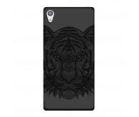 Чехол Deppa Art Case и защитная пленка для Sony Xperia Z5, Black Тигр