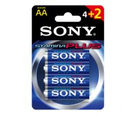 Батарейка алкалиновая Sony АА, блистер 4 шт