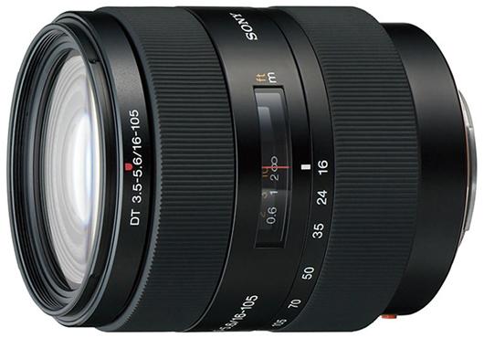 Объектив Sony DT 16-105mm f/3.5-5.6 (SAL-16105) Черный со скидкой