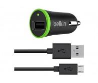 Автомобильное зарядное устройство Belkin + кабель micro-USB 1.2 м