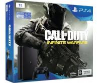Игровая приставка Sony PlayStation 4 slim 1 ТБ в комплекте с игрой Call of Duty: Infinite Warfare