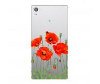 Чехол Deppa Art Case и защитная пленка для Sony Xperia Z5, Flowers Мак