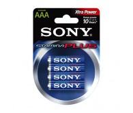 Элемент питания алкалин Sony AAA, 1,5V, 4 шт