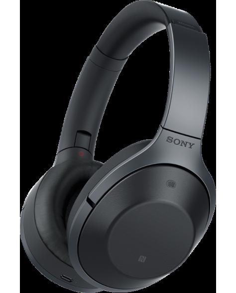 Наушники Sony MDR-1000X с шумоподавлением, SENSE ENGINE, Hi-Res Audio Черный со скидкой